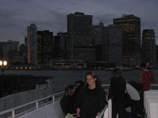 After the reception, on the ferry